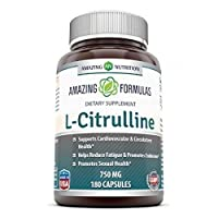 Amazing Nutrition L-Citrulline 750 Mg 180 capsules - SUPPORT FOR YOUR WORKOUT - PROMOTING HEART HEALTH