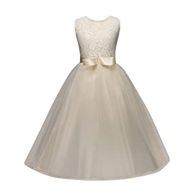 recogido captura muchos estilos K-youth Vestido Niña, Vestidos De Fiesta Niña Tutú Princesa Vestido de Niña  Vestido De Princesa para Niña Encaje Tul Vestido de Ceremonia Vestido de ...