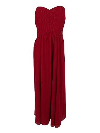 Amazon.com: Lauren Ralph Lauren Womens Crepe Sweetheart Evening ...