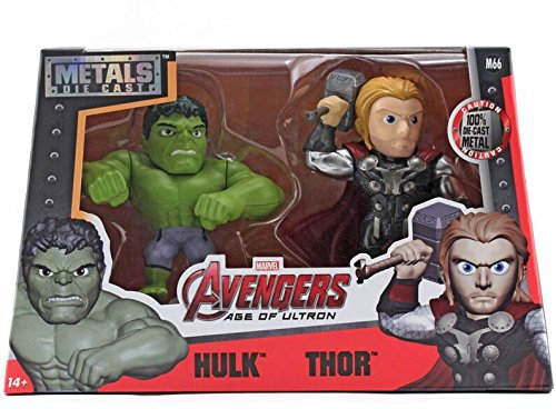 Metals Marvel 4 inch Classic Twin Pack - Hulk & Thor (M66)