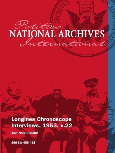 Longines Chronoscope Interviews, 1953, v.22: Senator John Stennis, Henry Ford II movie