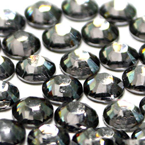 2mm, 3mm,4mm,5mm,6mm DIY Resin Round Flat Back Rhinestones Gems Brilliant 14-Cut Facets Flatback Includes Rhinestones Flat Back Samples from GreatDeal68 (6mm (450 pcs), Black Diamond)