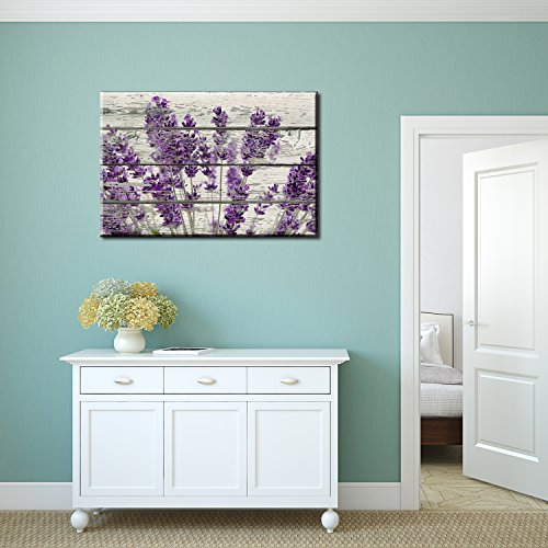 Retro Style Purple Flowers on Vintage Wood Background Rustic ation