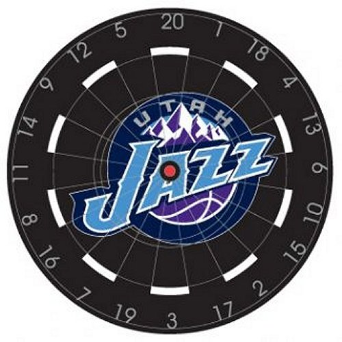 NBA Utah Jazz 18'' Bristle Steel Tip Dart Board-Limited Quantity!! by Imperial