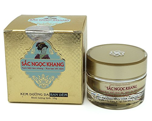 (Sac Ngoc Khang Facial Night Cream Cherry Blossom Coconut Macadamia Oil 10g)