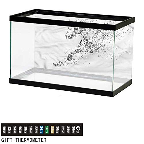 bybyhome Fish Tank Backdrop Horse,Dotted Galloping Farm Animal,Aquarium Background,36