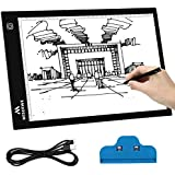 MISERWE A4 Light Table 4.7mm Ultra-Thin USB Powered Portable LED Light Box Artcraft Tracing pad for Sketching Artists Drawing Animation Stencilling X-rayViewing