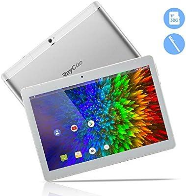 Tableta Android de 10.1 Pulgadas 3G, CPU Android 8.1 Quad Core, ROM de 64GB 2GB RAM, IPS HD 1280x800 Llamada telefónica desbloqueada PC Phablet con ...