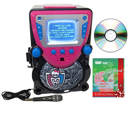 Sakar Monster High CD/CDG Karaoke Machine with Christmas Pack & 2 Mics Bundle -  Ace Karaoke, HSAKPK0004