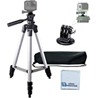 "50"" Aluminum Camera Tripod with Built in Bubble Level Indicator for All GoPro HERO Cameras + Tripod Mount & an…"
