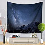 Baisheng Indian Mandala Wall Hanging Tapestry Hippie Tapestries Bedding Bedspread, Picnic Beach Sheet, Table Cloth, Decorative Wall Hanging (Starry Galaxy Universe Series1-51x59 Inch/130x150 CM)