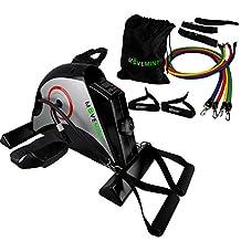 Under Desk Mini Exercise Bike + Optional Resistance Band Set | Office/Home Fitness Equipment