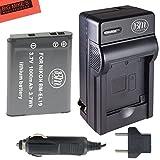 BM Premium EN-EL19, ENEL19 Battery & Charger Kit For Nikon Coolpix S32, S33, S100, S3100, S3200, S3300, S3500, S3600, S3700, S4100, S4200, S4300, S5200, S5300, S6400, S6500, S6800, S6900, S7000 Digital Camera + More!!