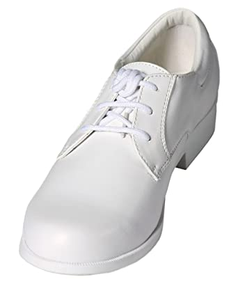 Amazon.com: Boys White Lace Up Round Toe Dress Shoes - Wedding ...