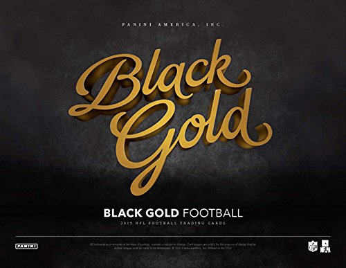 2015 Panini Black Gold Football Hobby Box (2 Packs of 5 cards) - 2 Autographs, 2 Memorabilia, 2 Manufactured Metal Logos, 2 Shadowbox inserts, 2 Shadowbox Base Cards) (Release date 01/20/16) ()