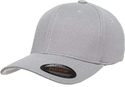 - Flexfit 6577CD Athletic Cool and Dry Pique Mesh Cap - OSFA (Silver)