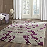 Safavieh Porcello Collection PRL7735B Light Grey and Purple Area Rug (5'2'' x 7'6'')