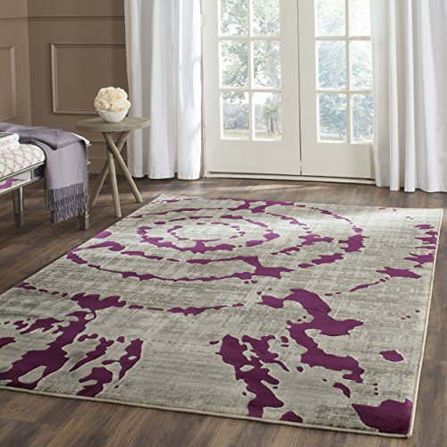 Safavieh Porcello Collection PRL7735B Light Grey and Purple Area Rug (5'2'' x 7'6'') by Safavieh