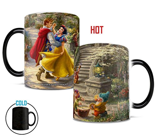 Disney – Snow White – Dancing in the Sunlight – Prince and Princess – Thomas Kinkade – Morphing Mugs Heat Sensitive Mug – Ceramic Color Changing Heat Reveal Coffee Tea ()