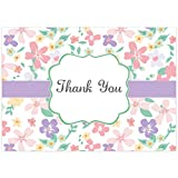 Thank You Cards - Pastel Flowers - Pack of 10