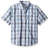Columbia Boys Super Bonehead Short Sleeve Shirt, Sail Plaid, Medium