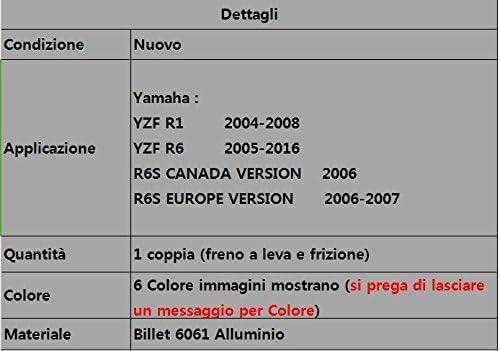 Leve Freno e Frizione in alluminio Regolabile Per Yamaha YZF R1 2002 2003