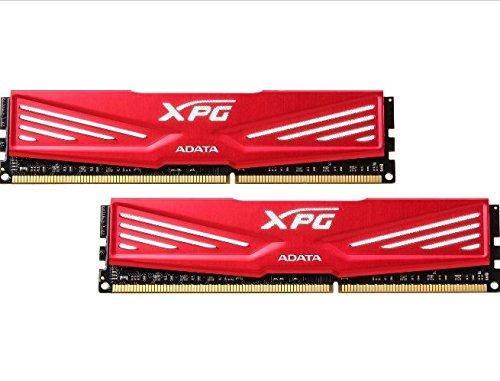 ADATA XPG V1 DDR3 1600MHz (PC3-12800) 16GB (2x8GB) Desktop Memory, Red (AX3U1600W8G11-DR)