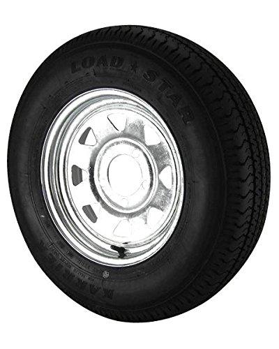 ST175/80D13 Loadstar Trailer Tire LRB on 5 Bolt Galvanized Spoke Wheel by Load Star