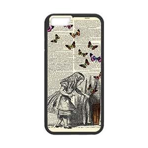 """iPhone 6 Case, Custom iPhone 6 Cover, Alice in Wonderland iPhone 6 Case, iPhone 6(4.7"""") Durable Plastic Material"""