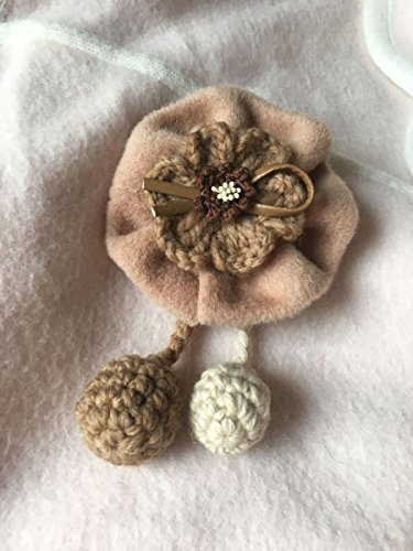 TKHNE Original handmade necklace pendant leather cord pitapat Aberdeen wool woolen flower corsage brooch pin badge hairpin dual-use models