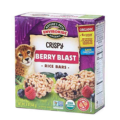 Nature's Path EnviroKidz Berry Blast Crispy Rice Bars, Healthy, Organic, Gluten-Free, Peanut Free, 6 Ounce Box (Pack of 6)