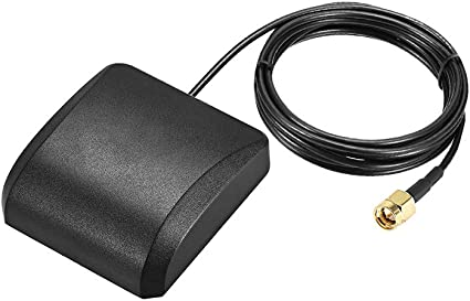 uxcell GPS Active Antenna Compatible with Beidou GNSS SMA Male Plug 42dB Aerial Connector Cable with Magnetic Mount 2 Meters Wire