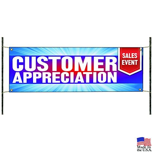 Customer Appreciation Sales Event Advertising Banner Sign -