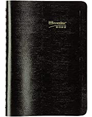 """Brownline 2022 Essential Daily/Monthly Planner, Appointment Book, 12 Months, January to December, Twin-Wire Binding, 8"""" x 5"""", Black (CB634W.BLK-22)"""