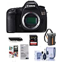 Canon 5DS DSLR Camera Body - Bundle with Camera Bag, 64GB Class 10 SDXC Card, Cleaning Kit, SD Card Reader, Screen Protector, Software Package