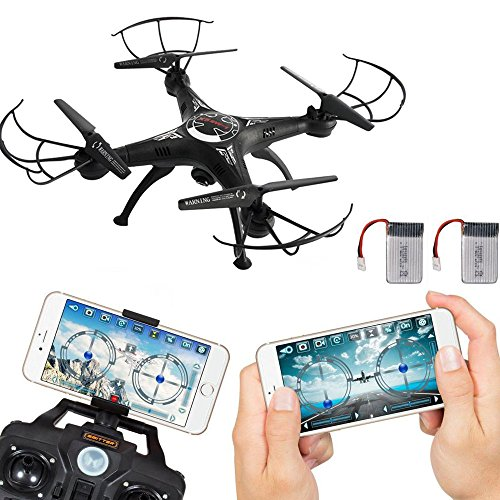 Littleice 2.4G 4CH 6 Axis RC Drone With Wifi HD FPV Camera Remote Control Quadcopter + Extra Battery by Littleice