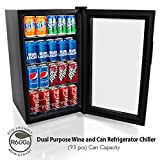 NutriChef 77 Can Beverage Cooler Refrigerator with