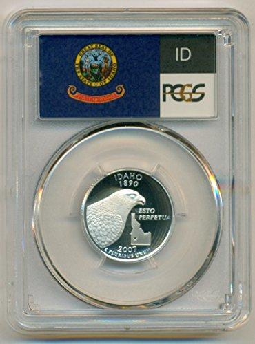 2007 S Idaho State Silver Flag Label Proof Quarter PR70 DCAM PCGS