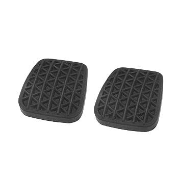 Eruditter Cubierta del Pedal de Embrague Almohadillas de Pedal de Goma Pastillas de Pedal de Freno