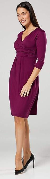 Happy Mama Maternity Damen Viskose Kleid Knie L/änge 282p Blau Jeans, 42, XL