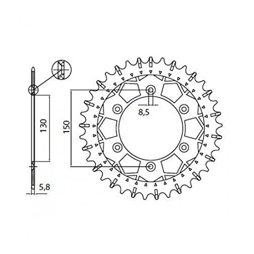Sunstar Rear Sprocket 49 Teeth 520 P