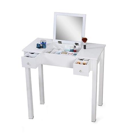 Organizedlife Wooden Makeup Vanity Table Mirror Dressing Table