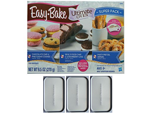 Easy Bake Oven Pans With Easy Bake Oven Mix Refills (Ez Bake Oven Parts compare prices)