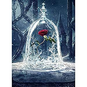 Diamond Painting Kits for Adults Kids, 5D DIY Rose Diamond Art Accessories with Full Drill for Home Wall Decor – 11.8×15.7Inches