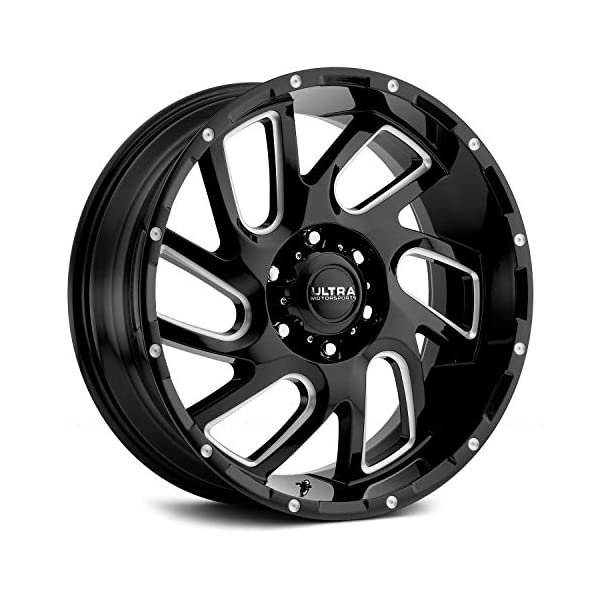 Ultra-221-Carnage-ustom-Wheel-Gloss-Black-with-Milled-Accents-and-Clear-Coat-20-x-9-18-Offset-6×1397-Bolt-Pattern-1061mm-Hub