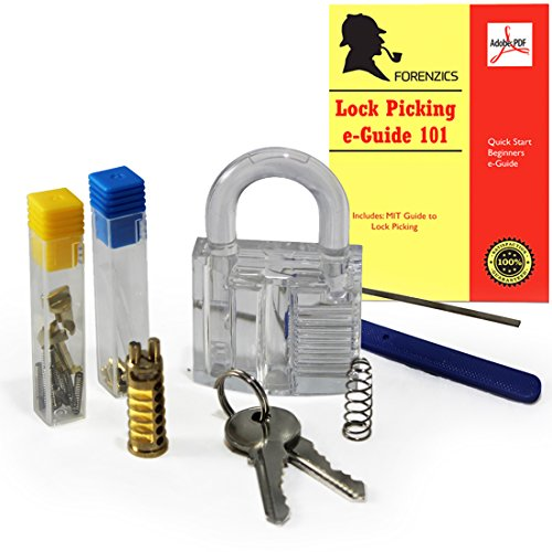 DIY Padlock Kit - comes with Clear Lock, Inner Parts and Tools