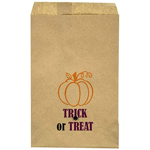"Halloween Candy Bag - Kids Classroom Exchange - Trunk Or Treat Goody Bag- Halloween Party - Pumpkin - Treat Bag - Trick Or Treat - 9.25"" x 6.25"" Brown Kraft Bags – (20 Pack) for $<!--$11.00-->"