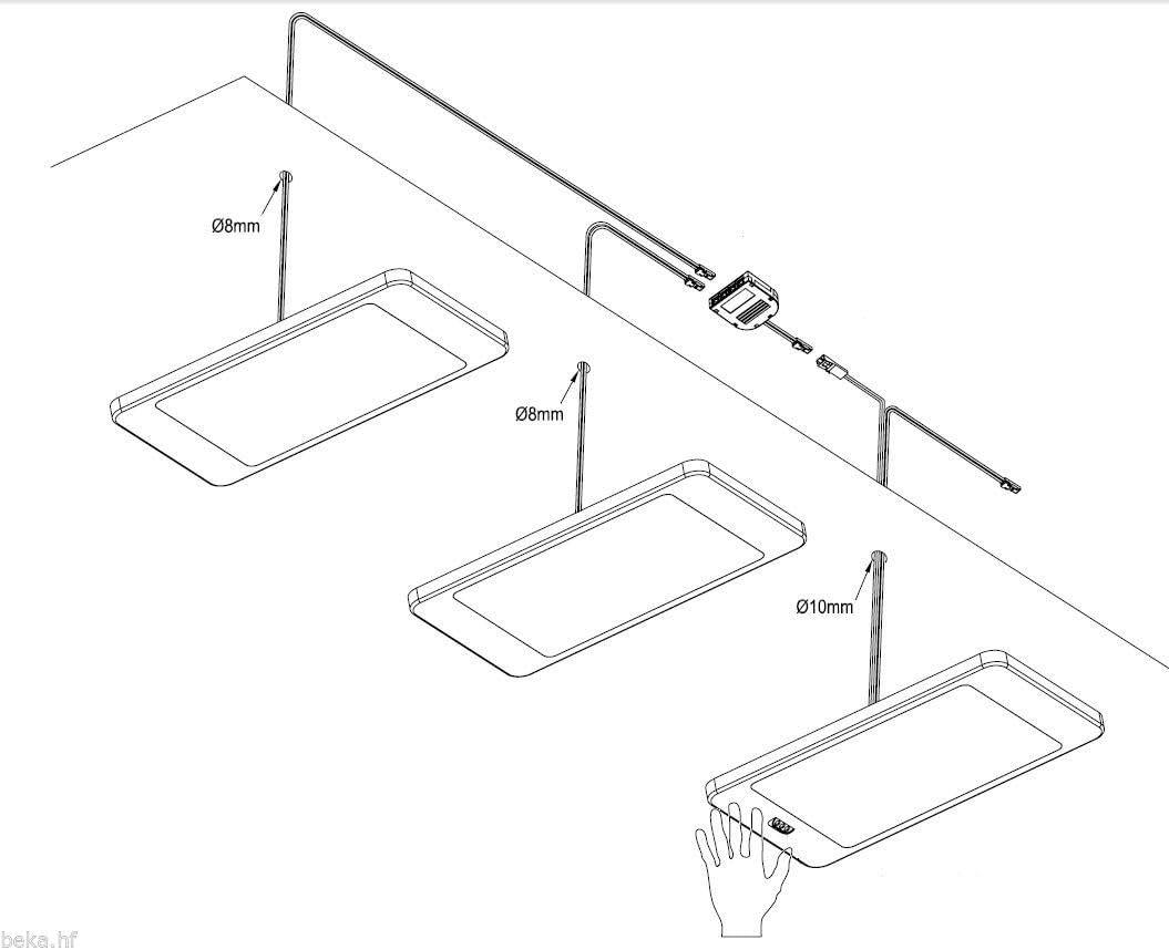 kit/: lot de 4 Lampe LED sous meuble 6 watts kit capteur luminaire de cuisine spot encastr/é temp/érature de couleur/: blanc newtre choix/: avec capteur
