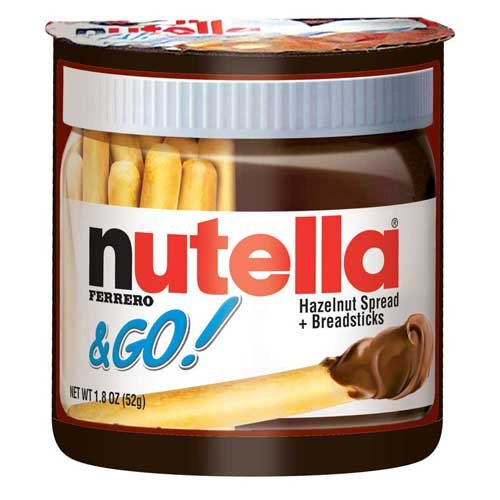 Nutella Hazelnut Spread Plus Pretzels Tray, 1.8 Ounce -- 48 per case.