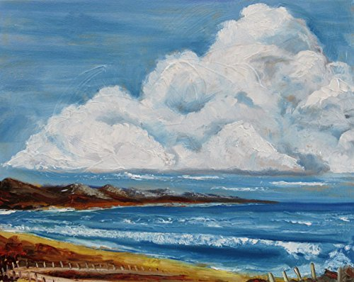 Ireland Contemporary Mirror - West of Ireland Coast - Framed Oil Painting, Original & Unique Art from Ireland